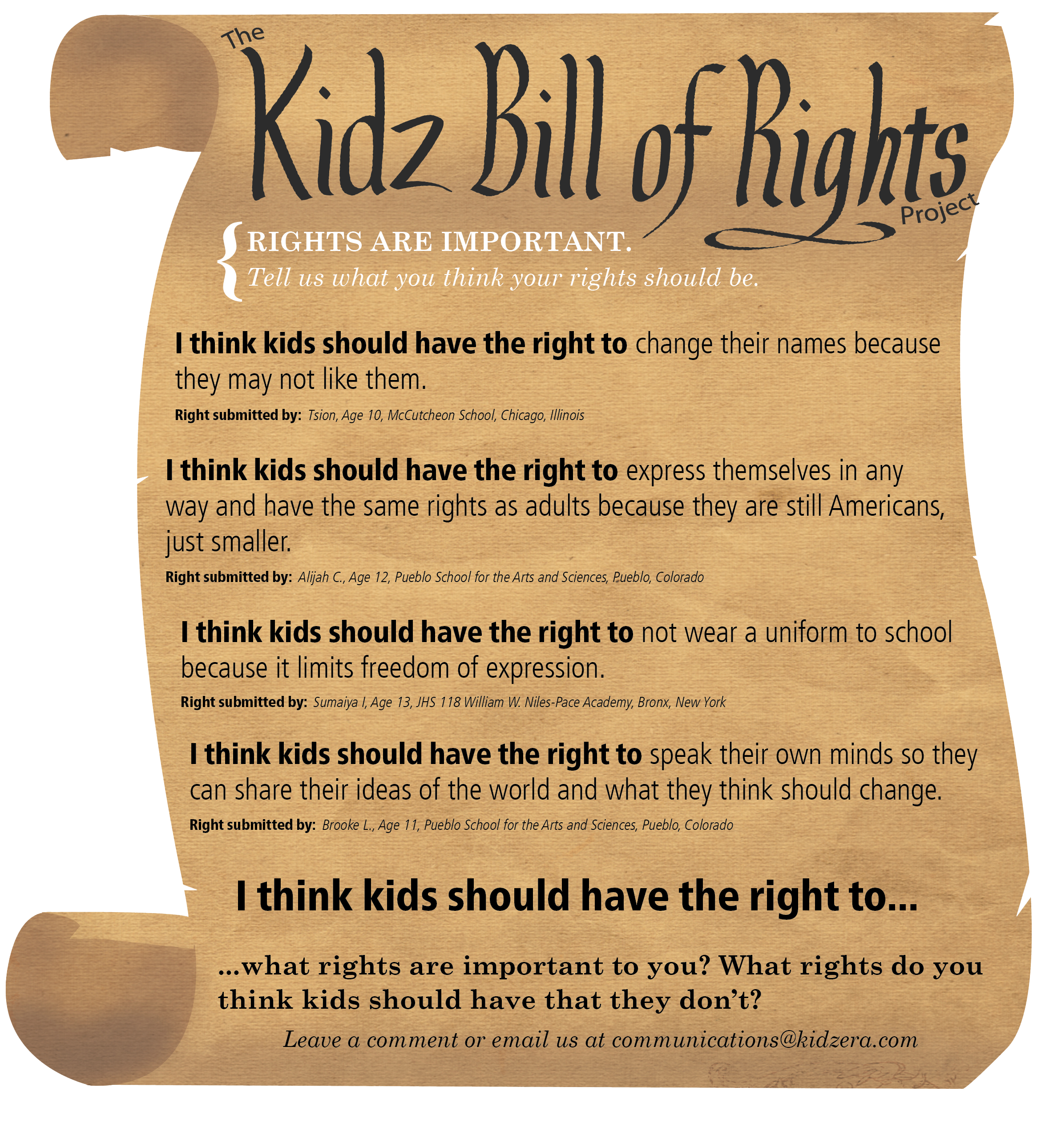 KIDZ BILL OF RIGHTS | ...