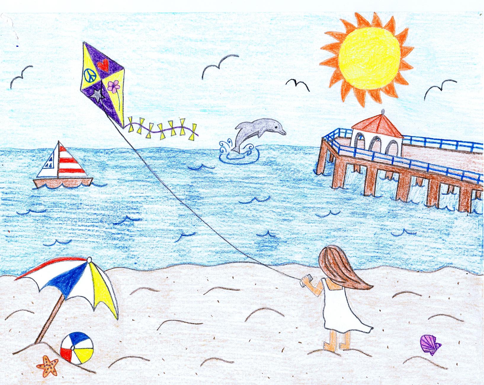 Детские рисунки про лето своими руками 13