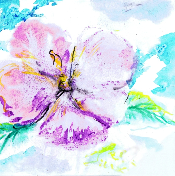 Flower painting by: Isabella V., Age 12, San Jose, California