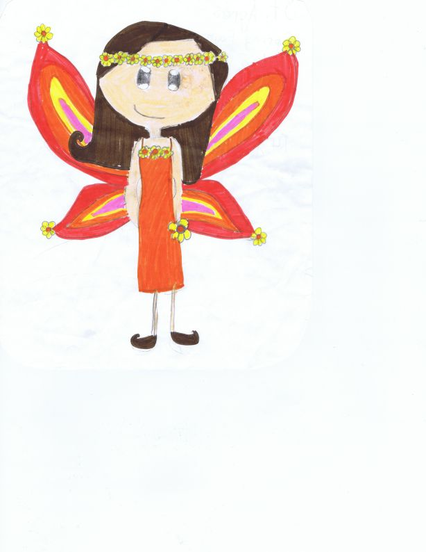 Fall fairy drawing by: Jackie R., Age 9, Los Angeles, California