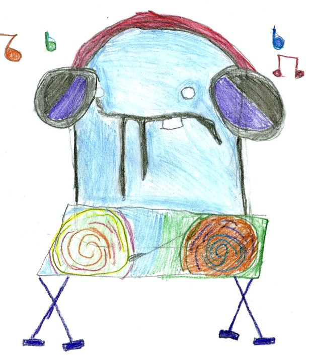 Monster Music drawing by: Wizafer, Age 8, Denver, Colorado