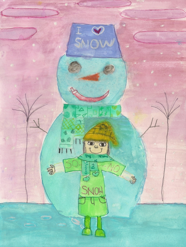 Snowman painting by: Yejin R.