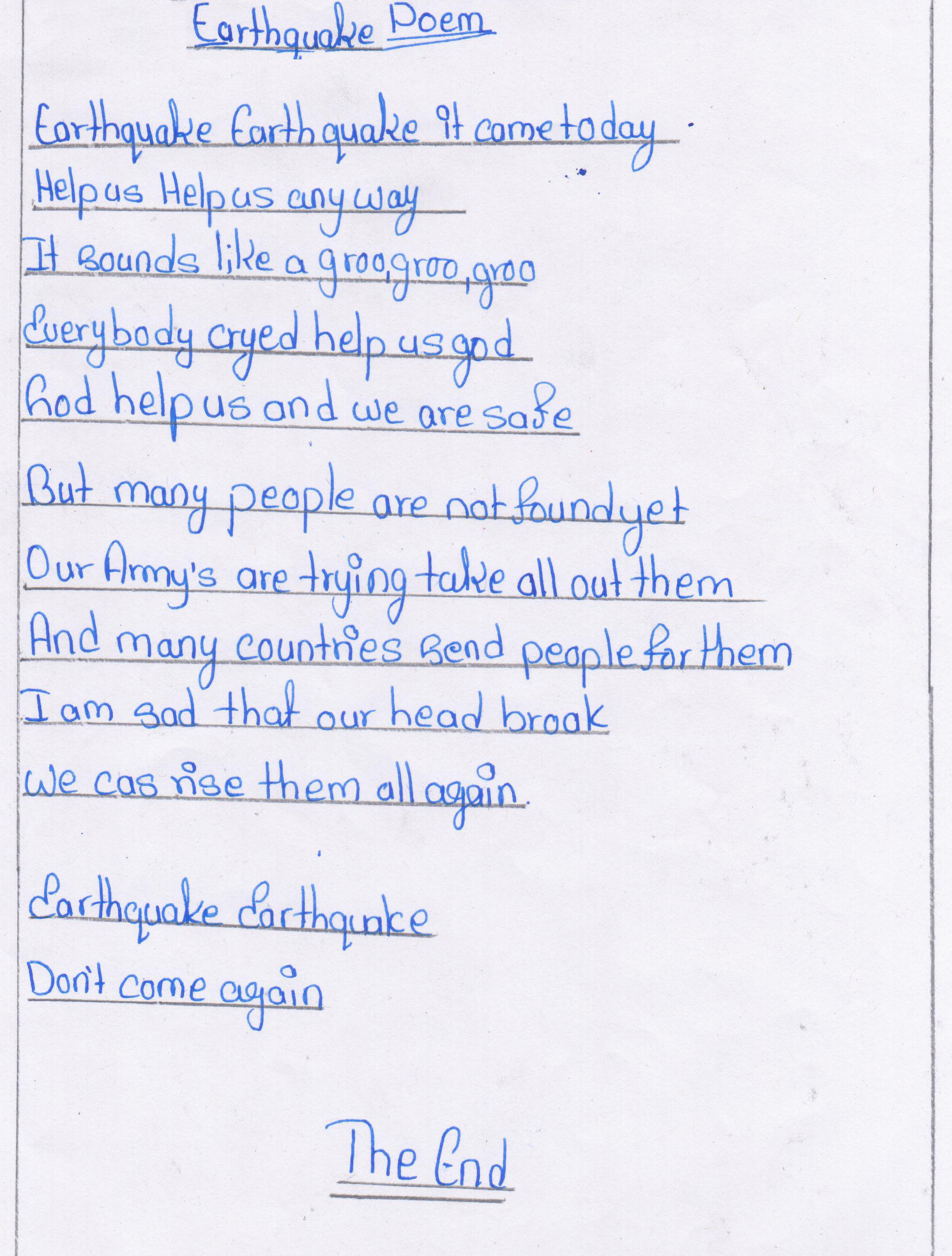 essays kidzera earthquake poem by sushmita basnet